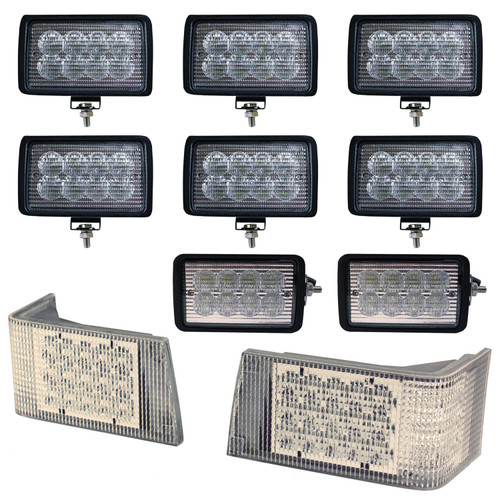 Magnum Complete Lamp Kit, CREE LED Hi-Lo & Flood Beam, CASE IH 7110  7120  7130  7140  7150  7210  7220  7230  7240  7250  8910  8920  8930  8940  8950