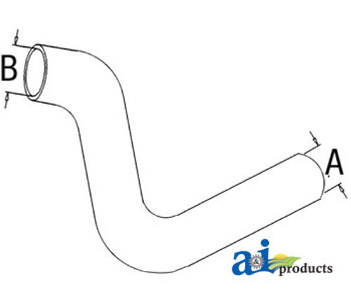 Lower Radiator Hose, IH 5088 5288 5488
