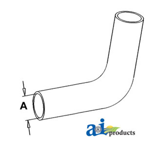 Lower Radiator Hose, IH - 454  464 (Gas)