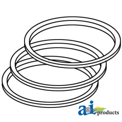 Piston Ring Set, IH, Super H, Super HV, Super W4, C164  (Gas)