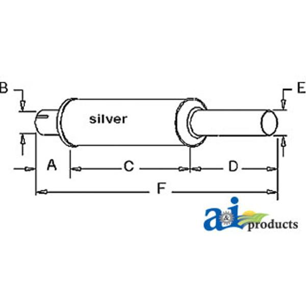 Exhaust Muffler, IH - 706 806 (Gas/Diesel)