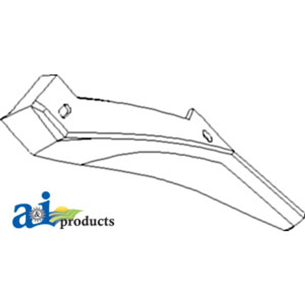 Hardened Rear Helical Kicker Angles (Pack of 2), Case IH Combine