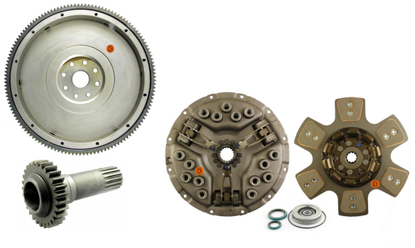 Flywheel with Ring Gear, PTO Drive Gear, and Clutch Kit: DT361 DT407 (Free shipping)