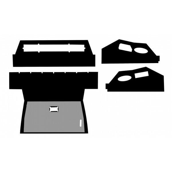 Head Liner Upholstery Kit, IH 886 986 1086 1486 1586 3088 3288 3388 3488 3588 3788 5088 5288 5488 6388 6588 6788 7288 7488, Hydro 186
