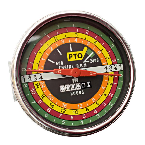 Tachometer , IH 706 806 1206 (Black Face)
