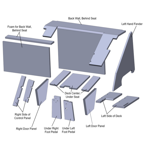 Cab Upholstery Kit (4 Colors), IH 3088 3288 3488 3688 5088 5288 5488 6388 6588 6788 7288 7488