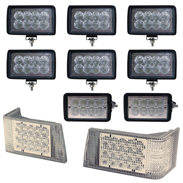 Magnum Complete Lamp Kit, CREE LED Hi-Lo & Flood Beam, CASE IH 7110  7120  7130  7140  7150  7210  7220  7230  7240  7250  8910  8920  8930  8940  8950