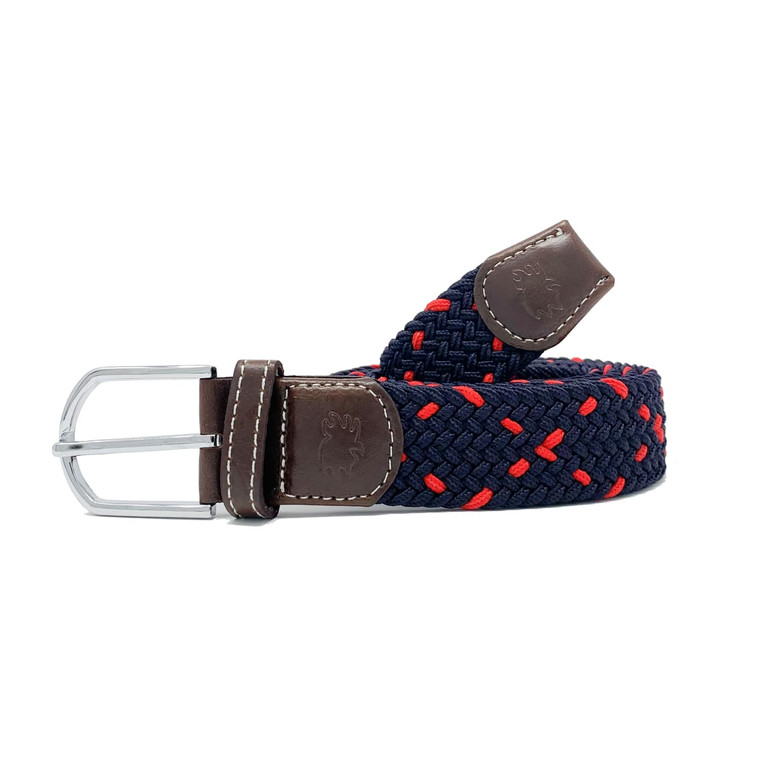 The Harbortown Two Toned Woven Elastic Stretch Belt