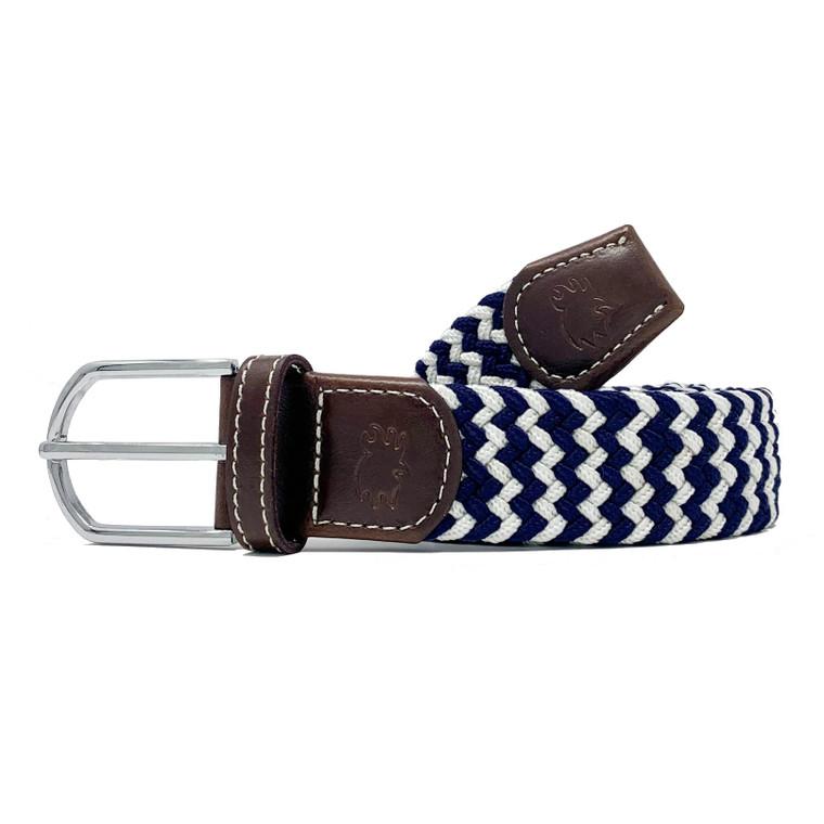 The Cape Cod Two Toned Woven Elastic Belt