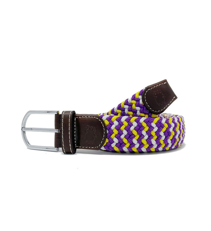 The Nola Two Toned Woven Elastic Stretch Belt