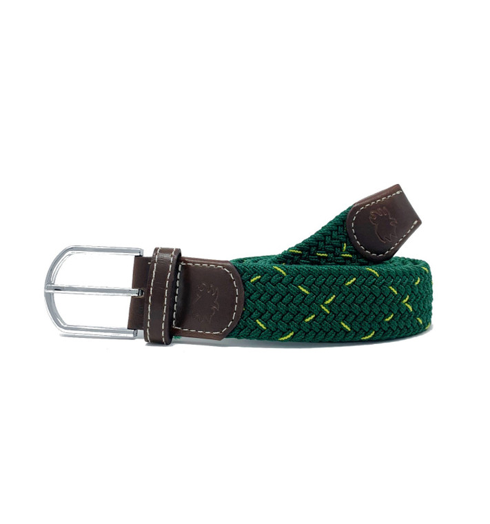 The Augusta Two Toned Woven Elastic Stretch Belt