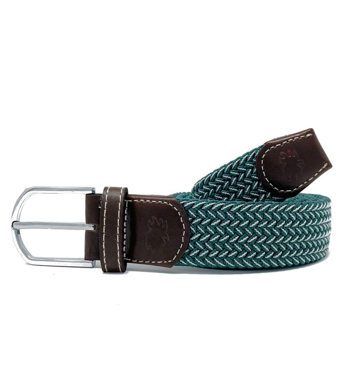 The Bandon Two Toned Woven Elastic Stretch Belt