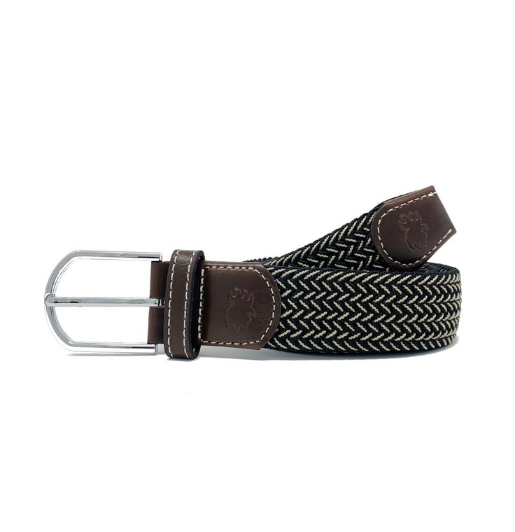 The Maui Two Toned Woven Elastic Stretch Belt