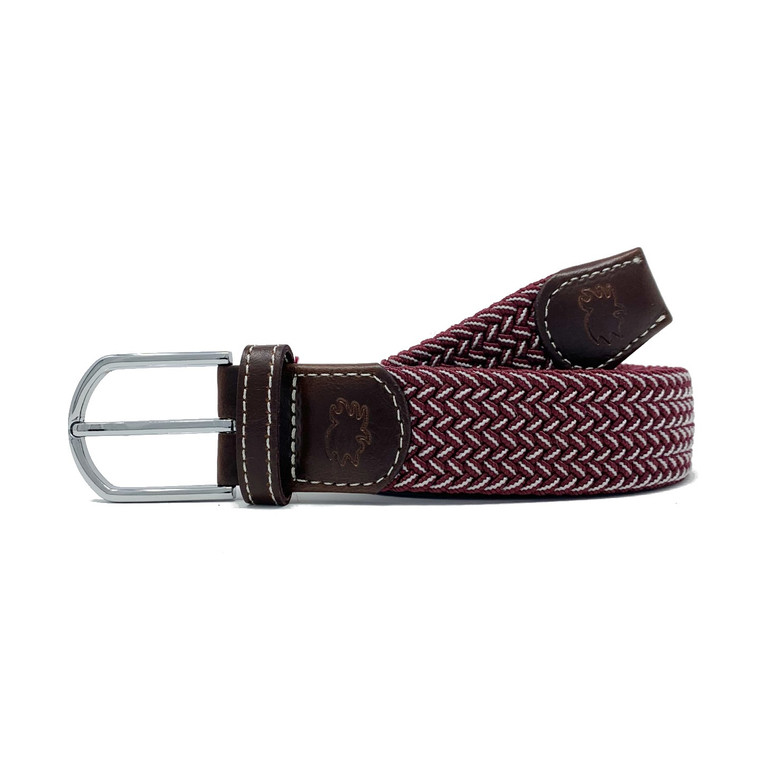 The Biloxi Two Toned Woven Elastic Stretch Belt