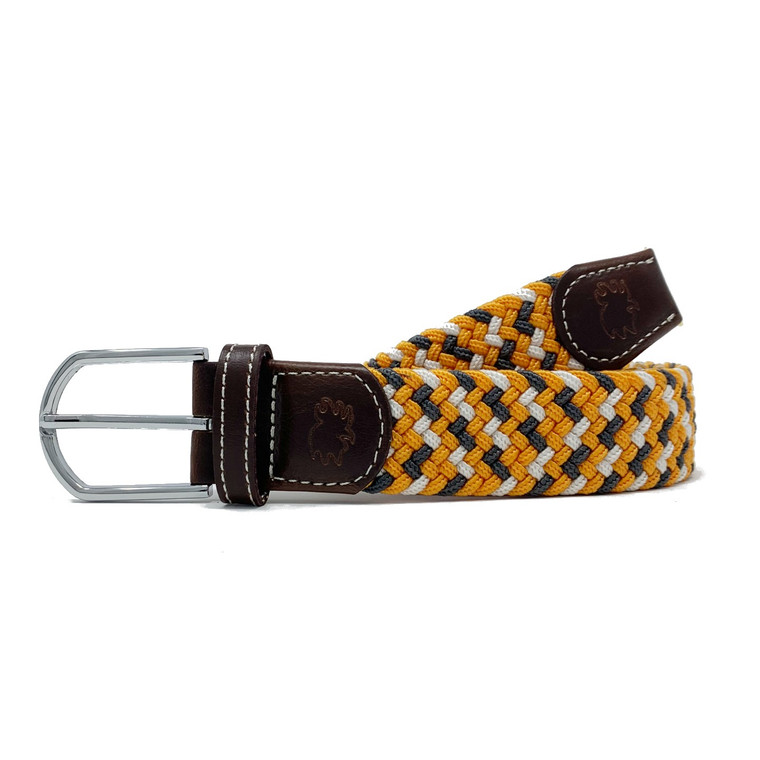 The Bristol Two Toned Woven Elastic Stretch Belt