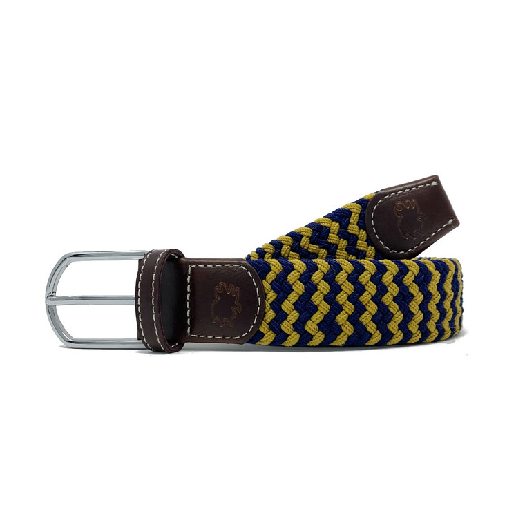 The South Bend Two Toned Woven Elastic Stretch Belt
