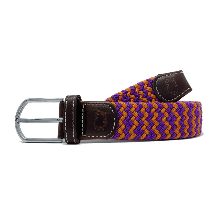 The Aiken Two Toned Woven Elastic Stretch Belt