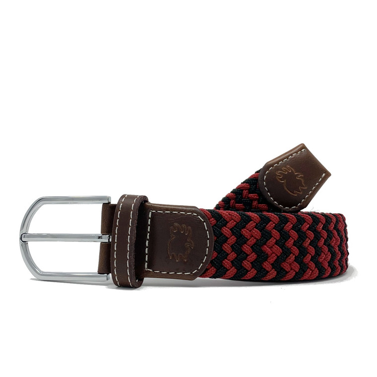 The Columbia Two Toned Woven Elastic Stretch Belt