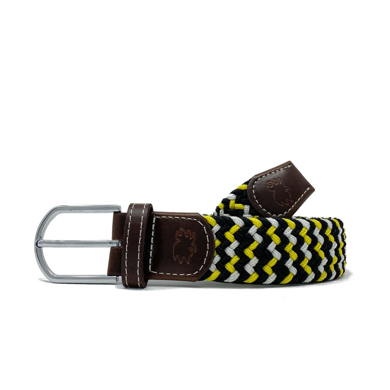 The Chesapeake Two Toned Woven Elastic Stretch Belt