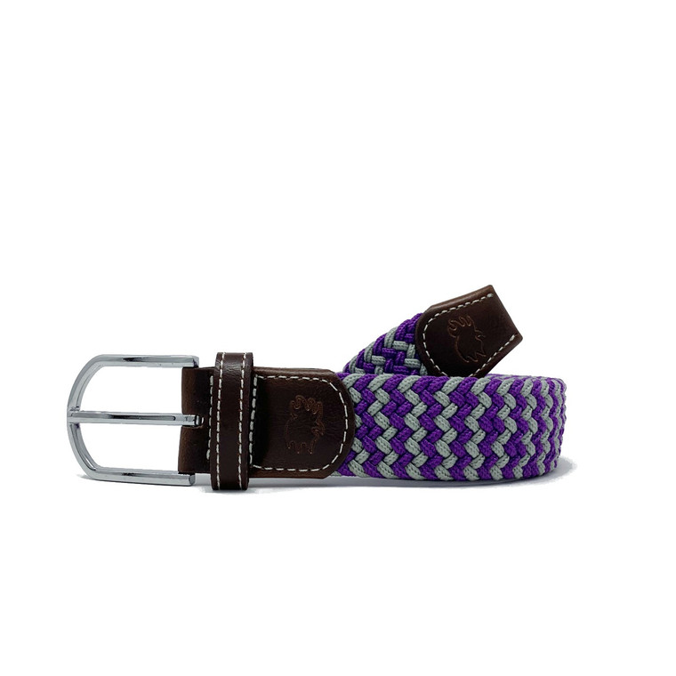 The Colonial Two Toned Woven Elastic Stretch Belt