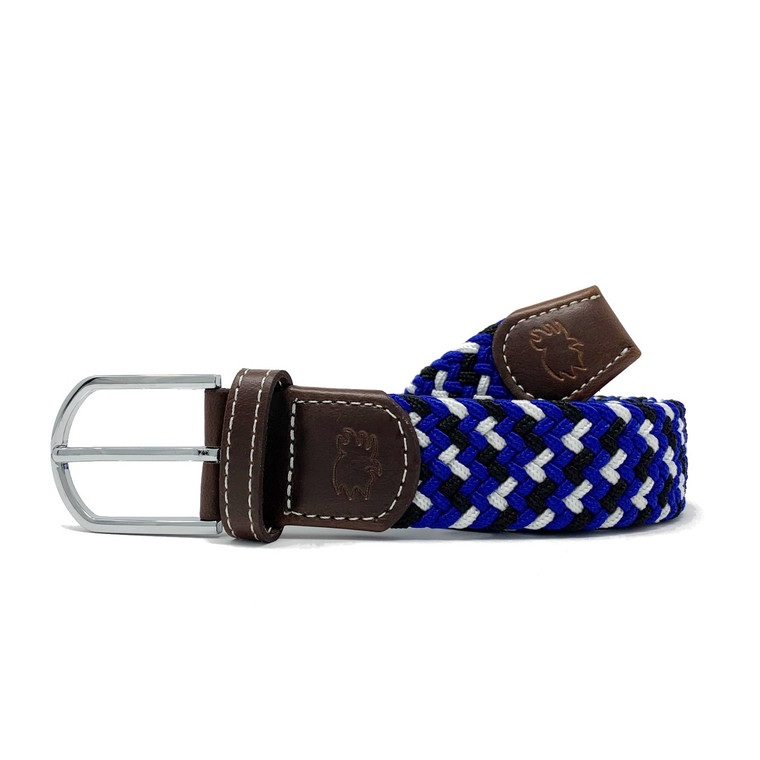 The Jupiter Two Toned Woven Elastic Stretch Belt