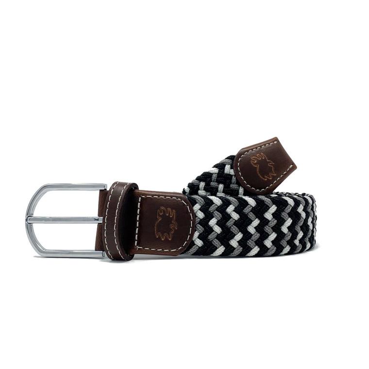The Baja Two Toned Woven Elastic Stretch Belt