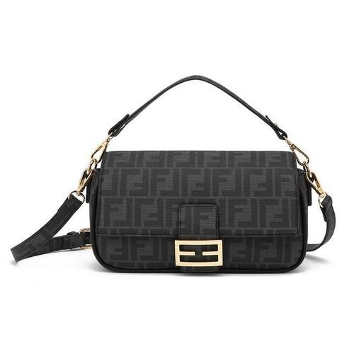 Frani Designer Inspired Baguette Bag - Black
