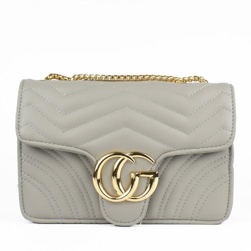 Talia Crossbody Gucci Inspired Marmont Bag - Grey