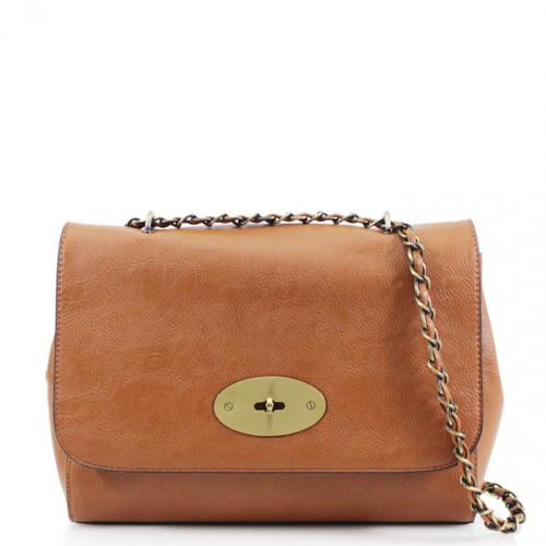 Athena Designer Inspired Crossbody Bag - Tan