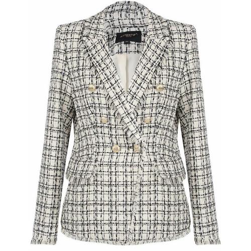 Carina Knit Thread Balmain Inspired Blazer - Beige
