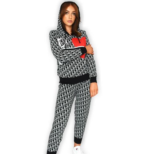 Daisey Designer Inspired Loungewear Set - Black