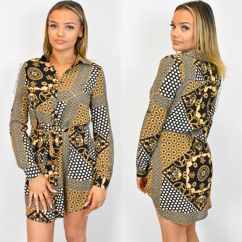 Zyla Designer Inspired Shirt Dress