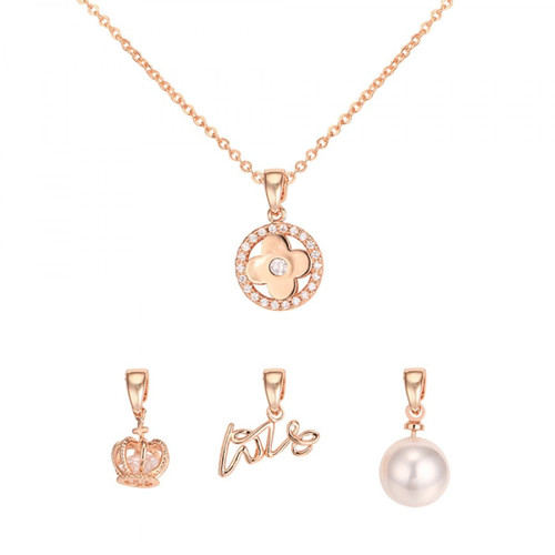 Kori Interchangeable Tiffany's Inspired Necklace - Rose Gold
