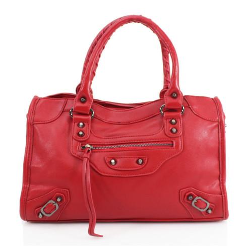 City Balenciaga Inspired Tote Bag - Red