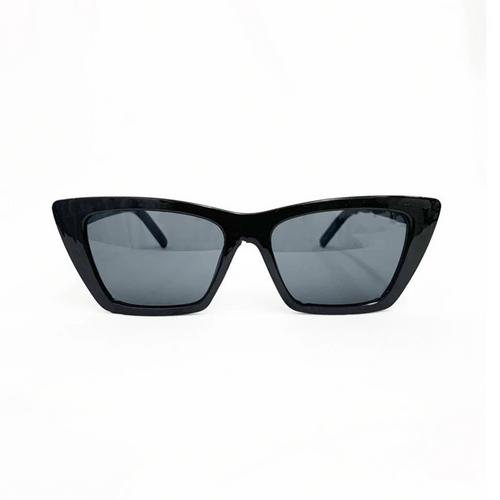 LA Designer Inspired Cat Eye Sunglasses - Black