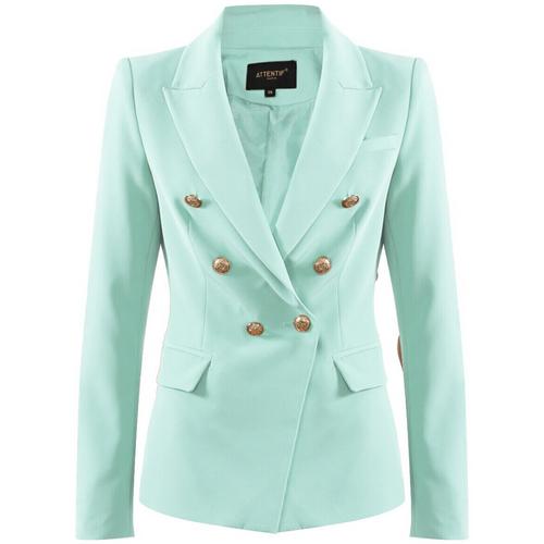 Victoria Balmain Inspired Tailored Blazer - Mint
