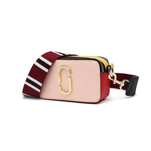 Marcia Designer Inspired Crossbody Bag - Multi Pink