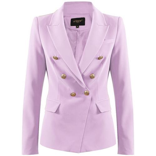 Victoria Balmain Inspired Tailored Blazer - Lilac