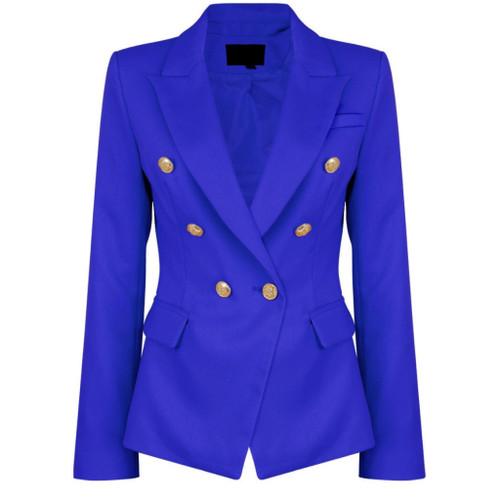 Victoria Balmain Inspired Tailored Blazer - Royal Blue