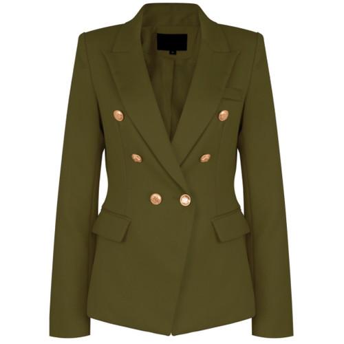Victoria Balmain Inspired Tailored Blazer khaki