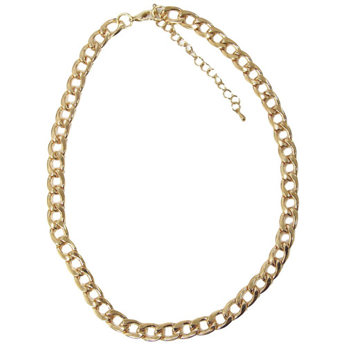 Tess Designer Inspired Link Chain Necklace - Gold