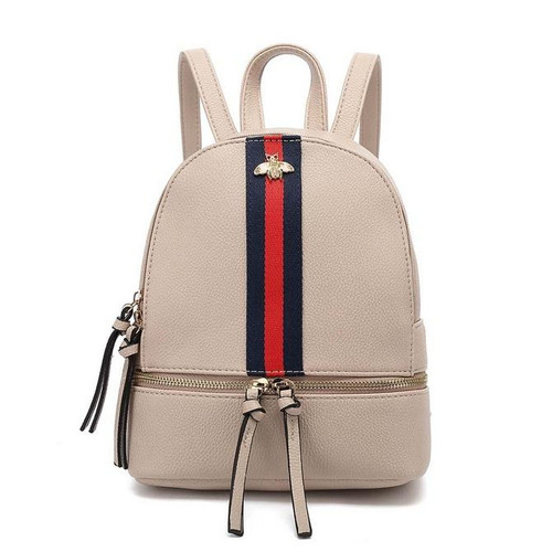 Kelsey Bee Gucci Inspired Mini Backpack - Nude