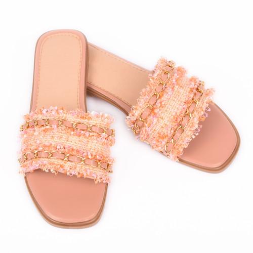Corrina Tweed Designer Inspired Sandals - Pink
