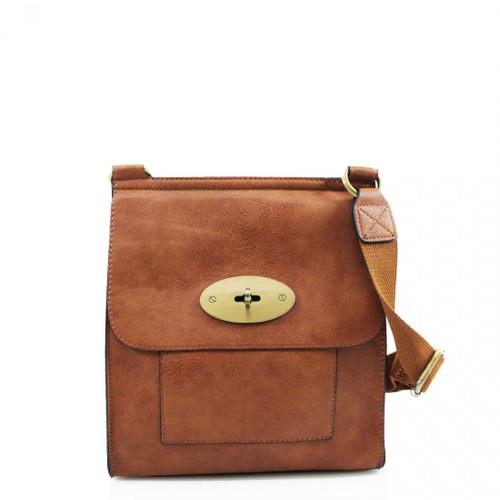 Toni Designer Inspired Satchel Bag - Tan