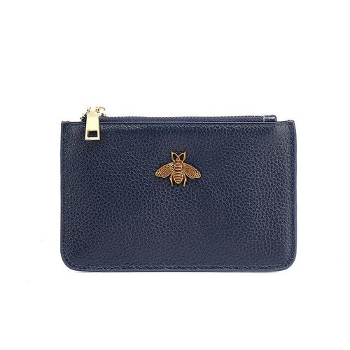 Carrie Bee Real Leather Gucci Inspired Key Pouch - Navy