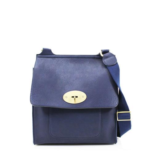 Toni Designer Inspired Satchel Bag - Navy