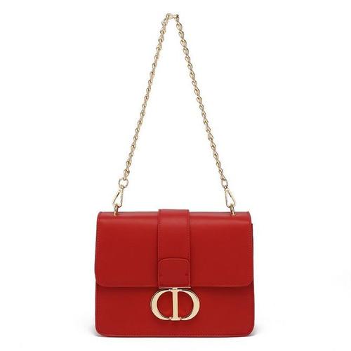 Naomi Designer Inspired Shoulder Bag - Red