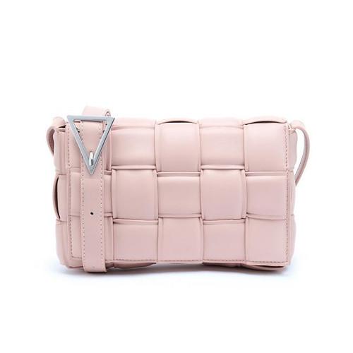 Cassie Designer Inspired Padded Cassette Bag - Pink