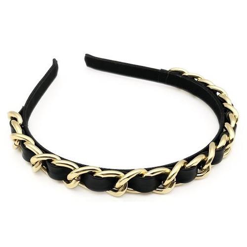 Missy Designer Inspired Chain Headband - Black