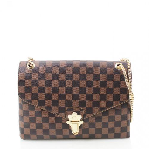 'Date Night' Designer Inspired Bag - Brown Check